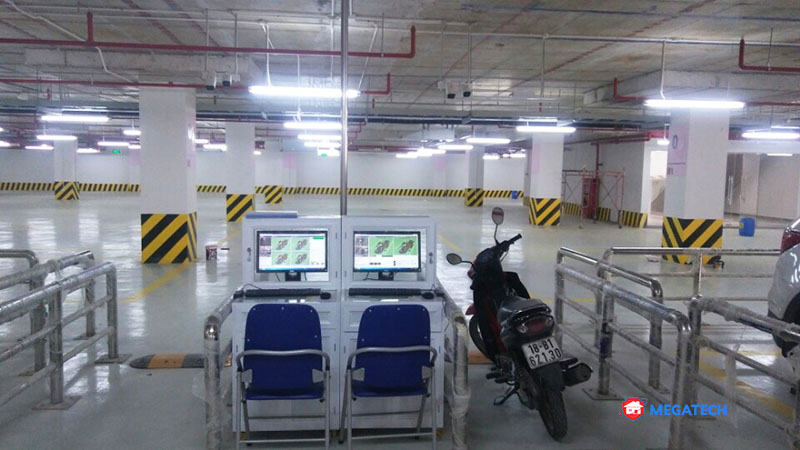 Hệ thống bãi giữ xe trung tâm thương mại vincom tại Long An