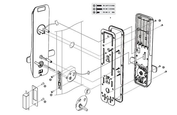 mô hình cài đặt commax cdl-200l