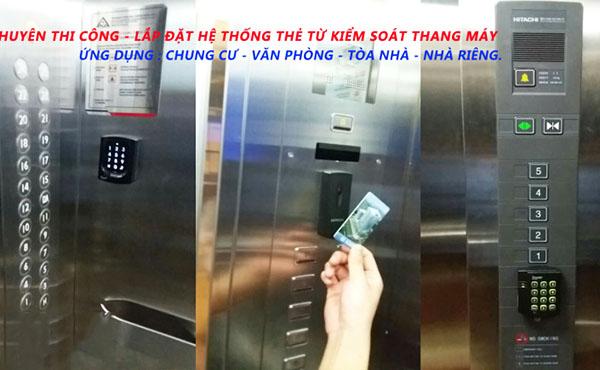 cung cấp lắp đặt thiết bị kiểm soát thang máy chung cư
