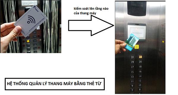 lắp đặt thiết bị kiểm soát thang máy chung cư bằng thẻ từ