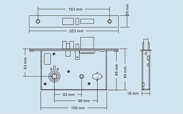 kích thước DLS-188