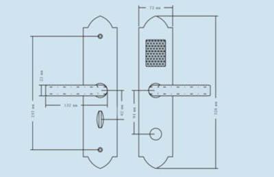 kích thước khóa dls-580