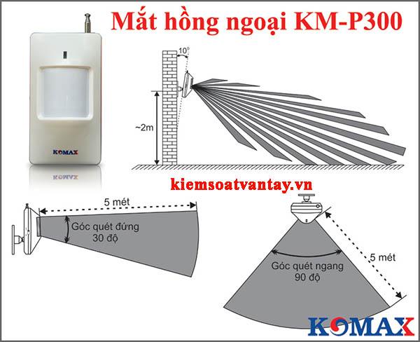 Giải pháp báo trộm không dây Komax KM-800P