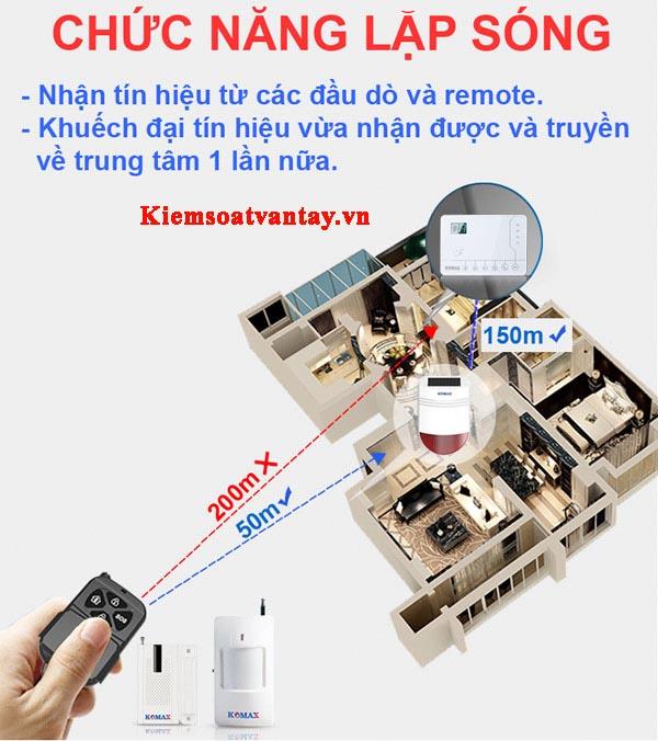 Còi cũng có thể nhận tín hiệu từ các remote