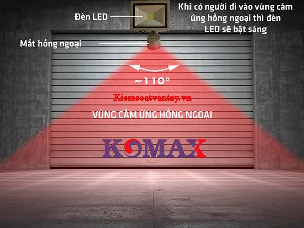 Đèn pha led cảm ứng hồng ngoại Komax KM-PS20T