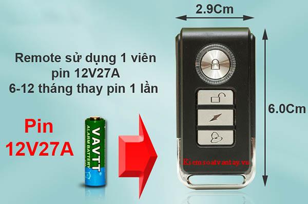 Komax KM-R16 sử dụng pin thông dụng