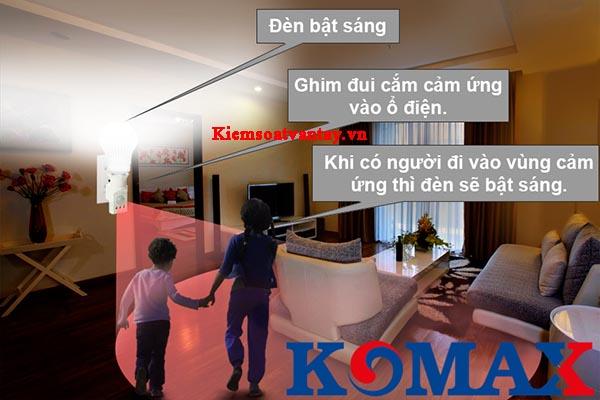 Đui cắm cảm ứng hồng ngoại Komax KM-S18