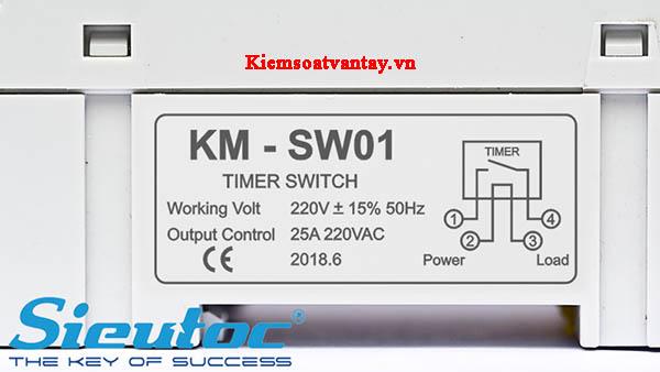 Công tắc hẹn giờ điện tử Komax KM-SW01