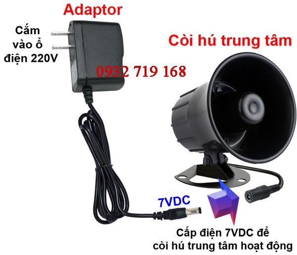 Hệ thống còi hú trung tâm không dây Komax KM-T60