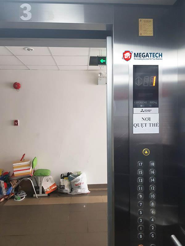 Khu vực kiểm soát thang máy