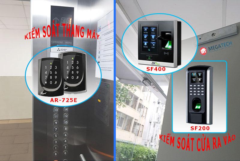 Lắp đặt hệ thống kiểm soát thang máy và kiểm soát cửa ra vào chung cư 8XPlus