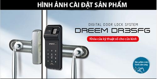lắp đặt khóa vân tay Dream DR35FG-S