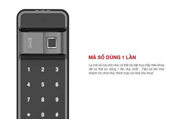 Khóa điện tử Epic ES-F500D có mã số 1 lần