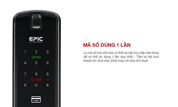 Khóa điện tử Epic ES-P8800K sử dụng mã số 1 lần