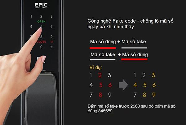 Epic ES-P8800K sử dụng công nghệ mã số ảo