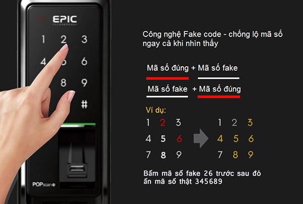 khóa cửa thông minh Epic Popcan M