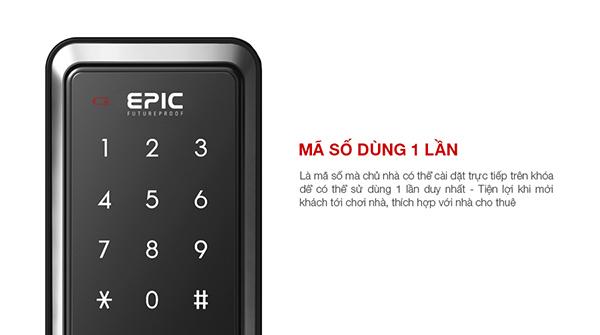 Khóa điện tử Epic Popcan M dùng mã số 1 lần