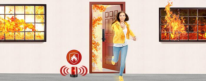 Khóa điện tử Samsung SHP-DH538 báo cháy