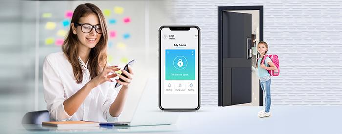 Khóa điện tử Samsung SHP-DP609 kết nối ứng dụng thông minh