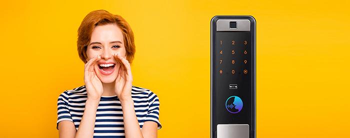 Khóa điện tử Samsung SHP-DP609 sử dụng giọng nói