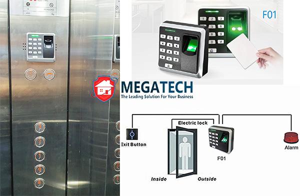 Cung cấp và lắp thiết bị kiểm soát thang máy bằng vân tay Mita F01 tại Quận 7