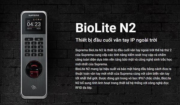 thiết bị kiểm soát Suprema Biolite N2