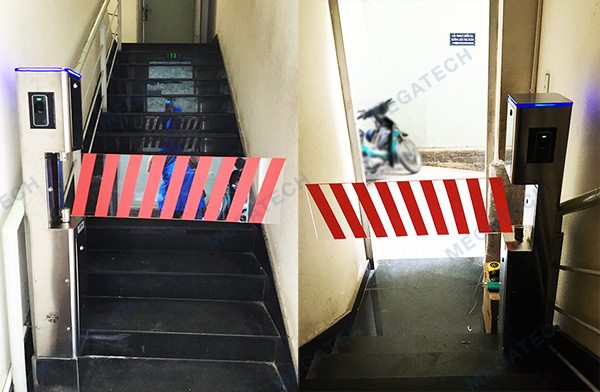 Lắp đặt cổng phân làn tự động chuyên dành cho lối thoát hiểm tòa nhà
