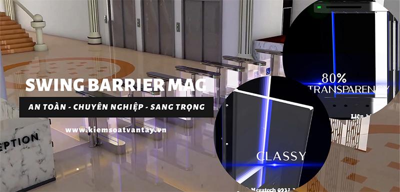 Swing Barrier MAG – Hệ thống kiểm soát ra vào sang trọng, hiện đại