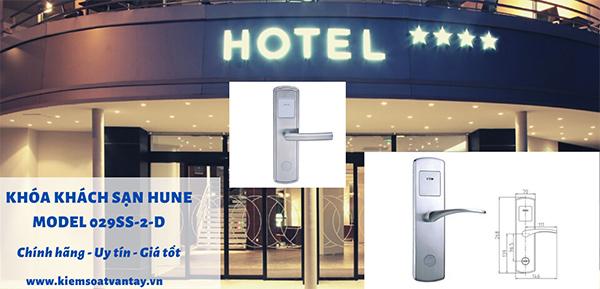 Khóa khách sạn Hune model 029SS-2-D chính hãng