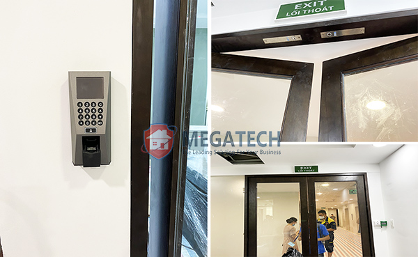 Lắp thiết bị kiểm soát cửa ra vào bằng vân tay tại văn phòng công ty Luật
