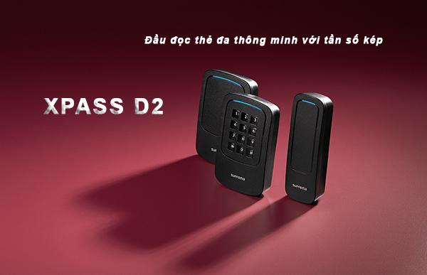 Suprema Xpass D2 đọc thẻ đa thông minh