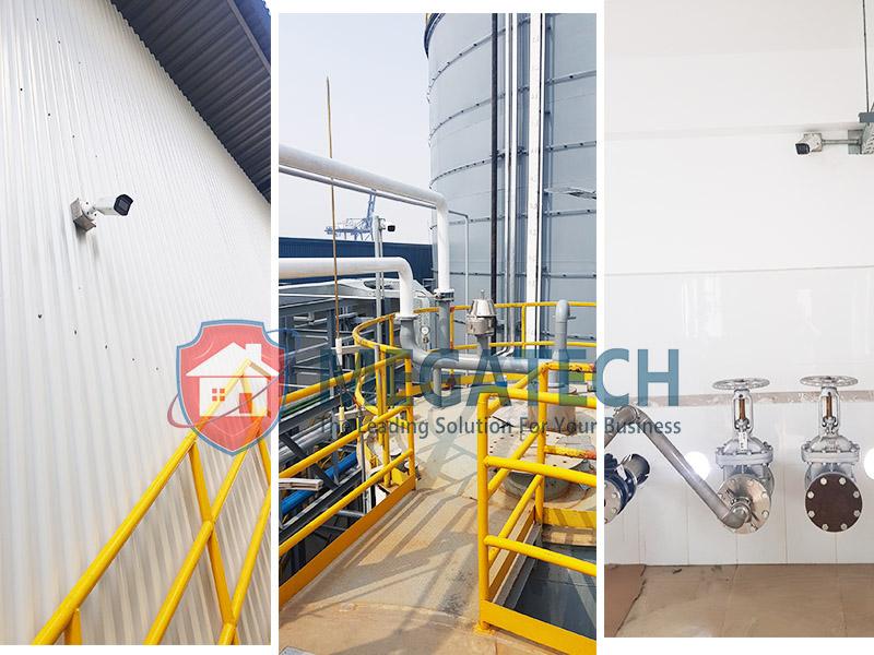 Vị trí lắp đặt camera quan sát tại nhà máy Cái Lân
