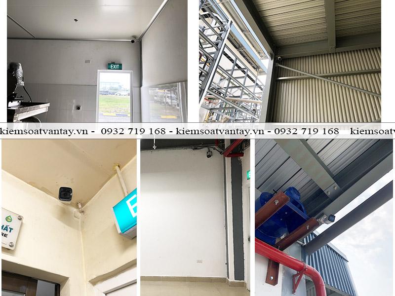 Một số vị trí lắp đặt camera quan sát nhà máy Cái Lân