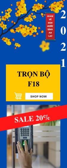 Sale trọn bộ máy vân tay F18