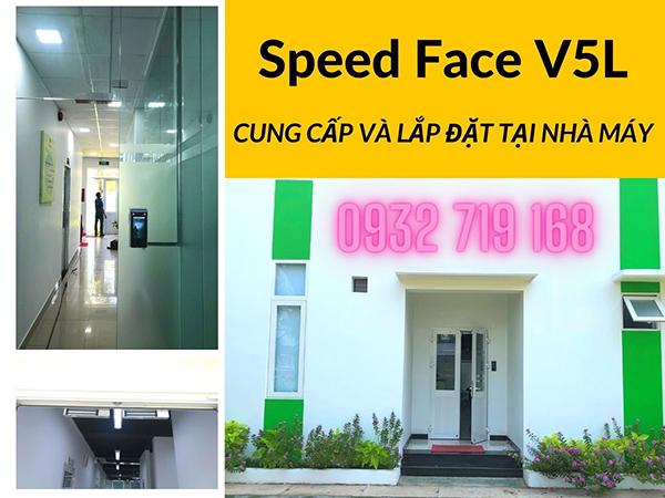 Cung cấp lắp đặt máy chấm công kiểm soát khuôn mặt Speedface tại nhà máy