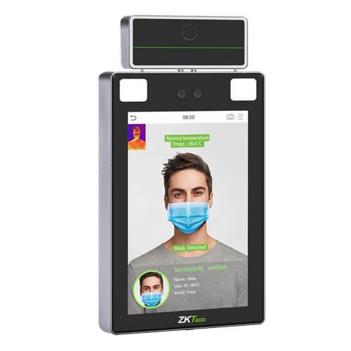 Máy chấm công khuôn mặt tích hợp đo nhiệt độ thông minh